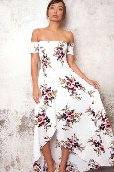 c18fd1b8047f Foley Floral Off Shoulder Maxi Dress. Haute Rogue