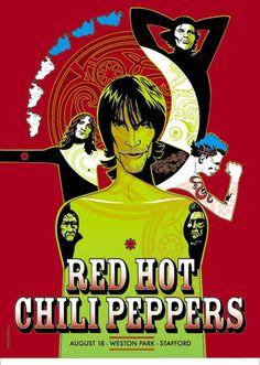 Red Hot Chili Peppers - Stafford - Mini Print
