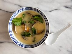 The briny juice of asari (Manila clams) is the star of this sophisticated miso soup, which is based on one served at Manhattan's EN Japanese Brasserie. Unlike many other kinds of dashi, the version here relies on clams instead of the more commonly used shaved bonito flakes.