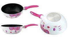 Práctico y femenino set de sartenes Hello Kitty