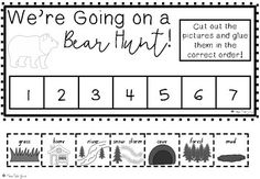 We're Going on a Bear Hunt Sequencing Activities by Miss Elle Jay Story Sequencing, Sequencing Activities, Book Activities, Daycare School, School Stuff, Pete The Cat Author, Pre K Worksheets, Preschool Classroom, Classroom Ideas