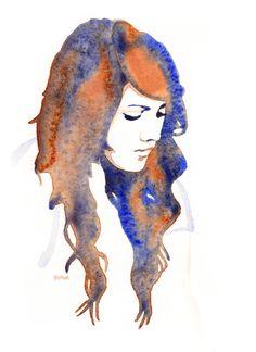 PEOPLE WATERCOLORS - Happy Hirtzel Creative Self Portraits, Illustration Art, Illustrations, Art Pieces, Drawings, Watercolors, Happy, Art Ideas, Fun