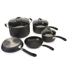 Ecolution Symphony Non-Stick 8 Piece Heavy Forged Aluminum PFOA Free Cookware Set, Slate >>> Tried it! Love it! Click the image. : Cookware Sets