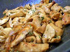 Emincé de poulet au madère : la recette facile