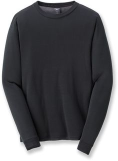Rei Male Silk Long-Sleeve Crew Shirt - Men's
