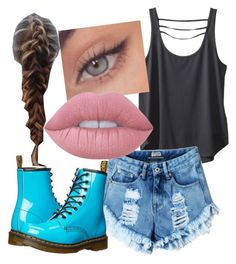 """""""Normal Day"""" by charmlovesyouu ❤ liked on Polyvore featuring Kavu, Dr. Martens and Lime Crime"""