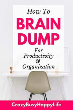 How to brain dump for improved productivity and organization. #productive #planner #organized