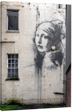 Jaxson Rea The Girl with the Pierced Eardrum by Banksy (Giclee Canvas)