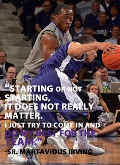 #KStateMBB Martavious Irving on his first start of the season