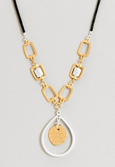 Anne Mixed Metal Pendant Necklace, 9-0035871772, Anne Mixed Metal Pendant Necklace Main View PDP