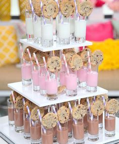 Fabulous Food Bars for Entertaining A milk & cookies bar is a great wedding reception idea or even for a kid's birthday party.A milk & cookies bar is a great wedding reception idea or even for a kid's birthday party. Sleepover Party, Slumber Parties, Birthday Parties, Pajama Party Grown Up, Birthday Kids, Birthday Food Ideas For Kids, Pamper Party, Party Party, Wedding With Kids