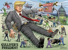 The Giant Awakens – Ben Garrison Cartoon George Soros, Ben Garrison, Ann Coulter, Big Brother, Sign Printing, Political Cartoons, Trump Cartoons, Boy Or Girl, Presidents