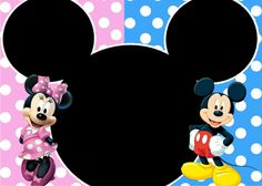 Invitación Minnie y Mickey Mickey Mouse Birthday, Minnie Mouse, Christmas Frames, Digital Invitations, Caricature, Sketches, Ideas Party, Disney Characters, Baby Showers