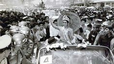 Empfang der Miss Universum 1965 in Bangkok