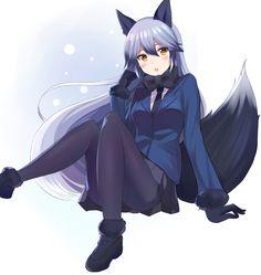 Neko, Fantasy Characters, Anime Characters, Fox Ears, Manga Girl, Anime Girls, Kemono Friends, Animal Ears, Furry Art