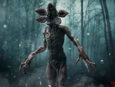 Dungeons & Dragons - Mike and the boys nickname the monster of Stranger Things the Demogorgon, a reference to the game they're seen playing in the basement, Dungeons and Dragons. Stranger Things Netflix, Stranger Things Monster, Stranger Things Halloween, Stranger Things Season 3, The Blair Witch Project, Matthew Modine, Zbrush, Playstation, Science Fiction
