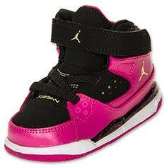Girls' Toddler Jordan Flight SC 1 Basketball Shoes | FinishLine.com | PINK/BLACK/WHITE