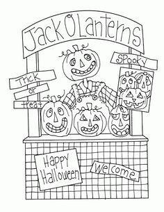 Jack O Lantern Booth... cute transformation of our lemonade stand ;)
