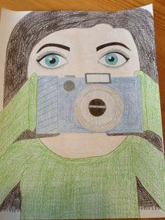 #Drawing#eye#camera#pencil#crayon