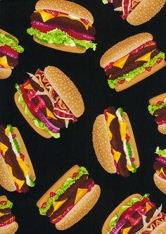 One Yard Timeless Treasures Fun Food JUICY by SeamsSewFunFabrics, $9.50