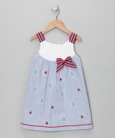 Take a look at this Blue Nautical Dress - Toddler by Samara on #zulily today!