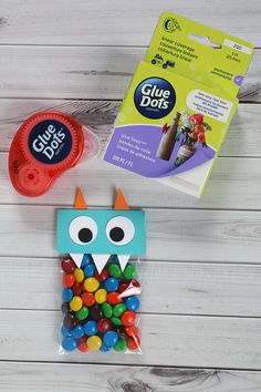 Make Monster Halloween Treat Bags with Supplies at Walmart
