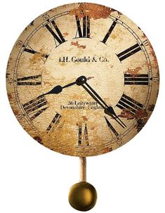 620257 Howard Miller Moment In Time Quartz Antique Wall Clock Antique Pendulum Clock Antique, Antique Brass, Howard Miller Wall Clock, Pendulum Wall Clock, Wall Clocks, Alarm Clocks, Clock Decor, Wall Decor, Time Clock