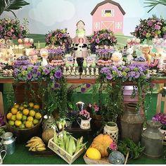 Bom dia!! Olha que linda Festa Fazendinha. Por @kellykhawam #encontrandoideias #fabiolateles #blogencontrandoideias