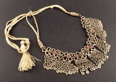 Old silver Kashmiri necklace, India, indian tribal necklace, ethnic tribal silver, ethnic beaded necklace, kashmir jewelry