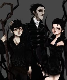 Nightmare family -Pitch, Elsa and Jack- by NoodleSayYeah.deviantart.com on @deviantART