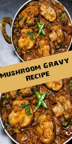 Mushroom Gravy is a uncomplicated nonetheless delicious recipe which tin terminal last made nether twenty minutes. It is an fantabulous companion for rice, Veg Recipes, Spicy Recipes, Indian Food Recipes, Appetizer Recipes, Vegetarian Recipes, Recipes Dinner, Mushroom Gravy Recipe Indian, Fried Mushroom Recipes, Veg Dishes