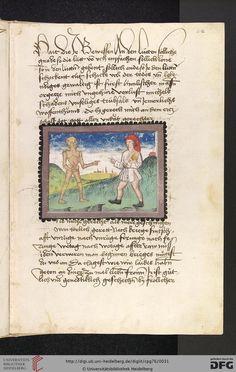 Cod. Pal. germ. 76: Johannes von Tepl: Der Ackermann aus Böhmen (Stuttgart - Werkstatt Ludwig Henfflin, um 1470), Fol 12r