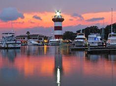 Orange Pink Sunset - Harbour Town (Hilton Head Island, SC) Summer 2011. © Alle Rechte vorbehalten   von Kalin Ranchev