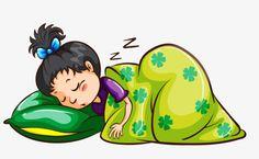 Cartoon Sleeping Bed Clipart