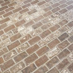 real thin brick from McNear. The color we chose is Cotswold and we love it's irregularity and unique look. Brick Flooring, Flooring Ideas, Brick Floor Kitchen, Dining Nook, Kitchen Dining, Thin Brick, Tile Projects, Room Paint Colors, Wood Countertops