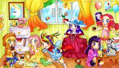 MLP+MANE+6+~+as+LITTLE+GIRLS+!!+by+flyingcatsandglitter.deviantart.com+on+@deviantART