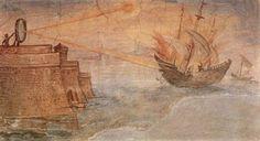 Μωσαϊκό: Ἡ πυρπόλησις τοῦ ῥωμαϊκοῦ στόλου