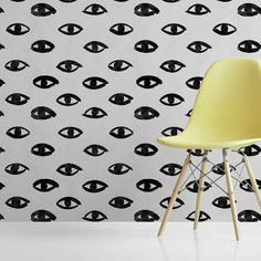 A fun pop art wallpaper mural , with hand drawn eyes creating a unique pop art wallpaper. The eyes have subtle differences making this an endlessly intriguing wallpaper. With the modern edgy effect created by the visible brushstrokes, this grey/black pop art wallpaper has a real sense of craft. Perfect to make a statement! #popartwallpapermural #graphicwallpapermural #statementwallpaper #modernfeaturewall #contemporarywallpapermural Grey Eyes Wallpaper, Flash Wallpaper, Pop Art Wallpaper, Wallpaper Size, Perfect Wallpaper, Wallpaper Samples, Designer Wallpaper, Cool Wallpapers Designs, Distressed Texture