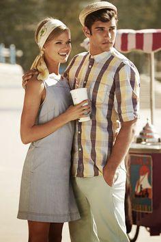retro styled couple