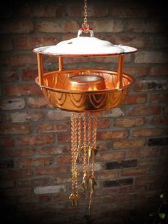 Upcycled Recycled Bird Feeder of Found Objects by GadgetSponge, $75.00