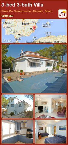 3-bed 3-bath Villa in Pinar De Campoverde, Alicante, Spain ►€249,950 #PropertyForSaleInSpain
