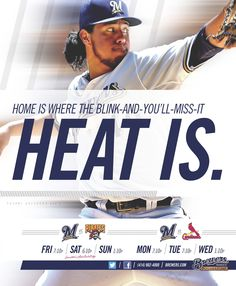 Home is where the blink-and-you'll-miss-it heat is. #Brewers vs. #Pirates and #Cardinals (July 2012)
