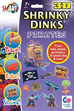 3-D Shrinky Dinks: Pirates