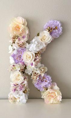 Carta floral flor letra Monograma Floral carta Floral