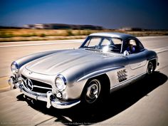 1956 Mercedes-Benz 300 SL 'Gullwing' Coupe on the El Toro Airbase, CA.    Photo: Royce Rumsey