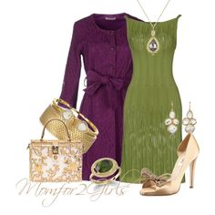 """""""Eggplant & Olive"""" by momfor2girls on Polyvore"""