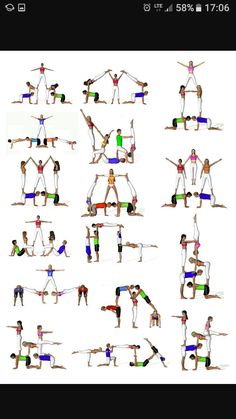 There are a lot of yoga poses and you might wonder if some are still exercised and applied. Yoga poses function and perform differently. Each pose is designed to develop one's flexibility and strength. Gymnastics Stunts, Acrobatic Gymnastics, Cheer Stunts, Cheerleading, Gymnasts, Partner Yoga, Iyengar Yoga, Ashtanga Yoga, Power Yoga Workout