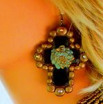 Holier Than Thou by Same Spirit in Black and Bronze with Turquoise Mum  $32.95  http://www.giddyupglamouronline.com/catalog.php?item=6170