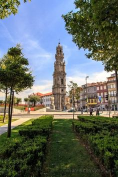Torre_dos_Clérigos by José Manuel Gouveia Porto City, Portuguese Culture, Pictures Online, Old City, Italian Artist, Cool Pictures, Amsterdam, Europe, House Styles