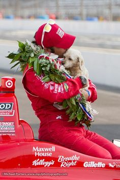 """""""To some, the mark of a hero may be winning 3 Indy & 4 championships. Indy Car Racing, Indy Cars, Indy 500 Winner, Ashley Judd, Indie, Target, Bucket, Sweet, Red"""